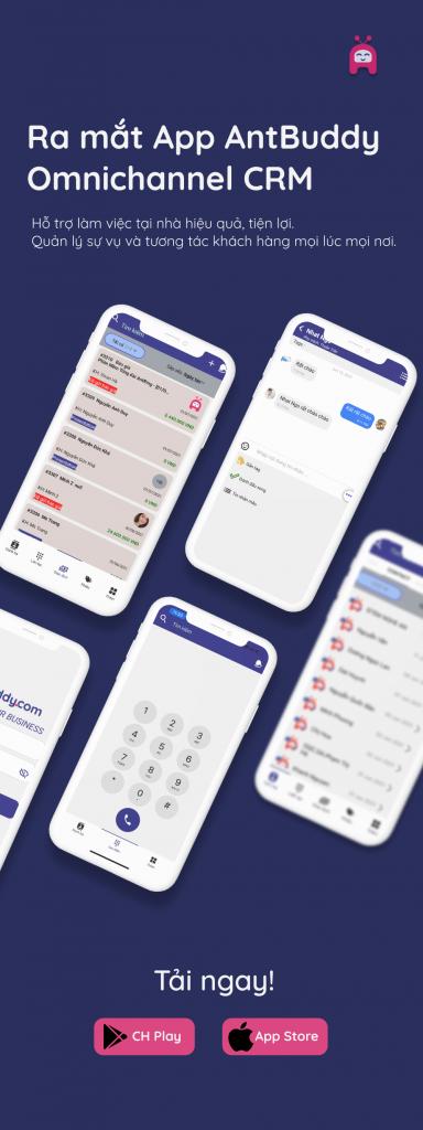 Banner tải ứng dụng mobile app CRM